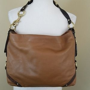 Coach 'Carly' Slim Hobo Brown Leather Purse